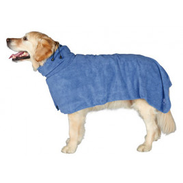 Köpek Bornozu, S, Microfibre, 40 Cm, Mavi