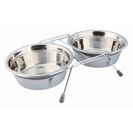 Köpek Mama Su Kabı Tıkırtısız Paslanmaz Çelik 2x1,5 lt / 25 cm