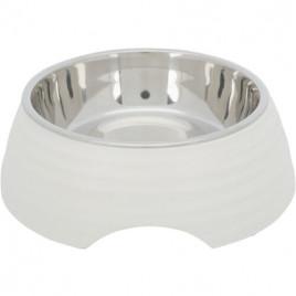 Köpek Mama ve Su Kabı Melamin/Paslanmaz Çelik 0,8lt / 22 Cm Beyaz