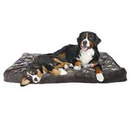 Köpek Yatağı 120x80 Cm, Pati Desenli Gri